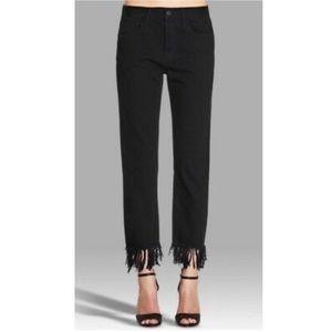 NWT 3x1 Straight Leg Jeans with Fringed Hem
